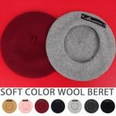 60'S SYTLE HERRINGBONE BERET HAT(BROWN/BLACK-CHARCOAL/BLACK-