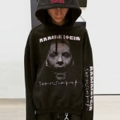 HORROR FACE MAN PRINT PULLOVER HOODIE