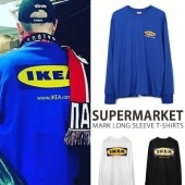 SUPERMARKET MARK LONG SLEEVE T-SHIRTS/3colors
