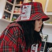 【2XADRENALINE】Check Bucket Hat / Red