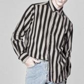 [UNISEX] URBAN STRIPE BEIGE & PINK SHIRTS(2color)
