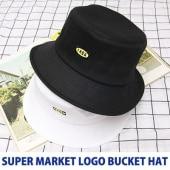 [UNISEX] SUPERMARKET LOGO BUCKET HAT(2color)