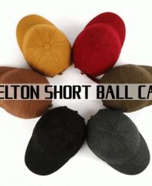 [UNISEX] MELTON SHORT BALL CAP(6color)