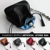 FLAMENCO RUFFLE ARTIFICIAL LEATHER BAG/ARTIFICIAL LEATHER(5c