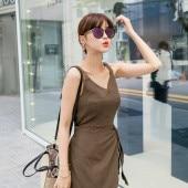 Linen Nashi Ribbon Wrap Dress