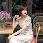 Square neck long dress