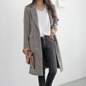 Trend Check Long Jacket